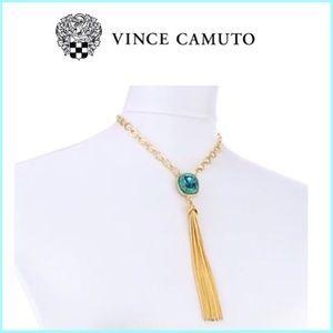 Stone Tassel turquoise Necklace